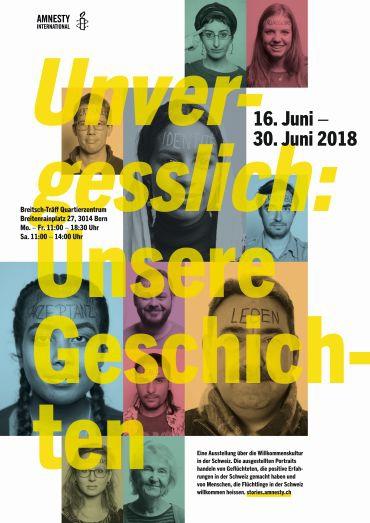 Plakate, Ausstellung «Unvergesslich: unsere Geschichten»