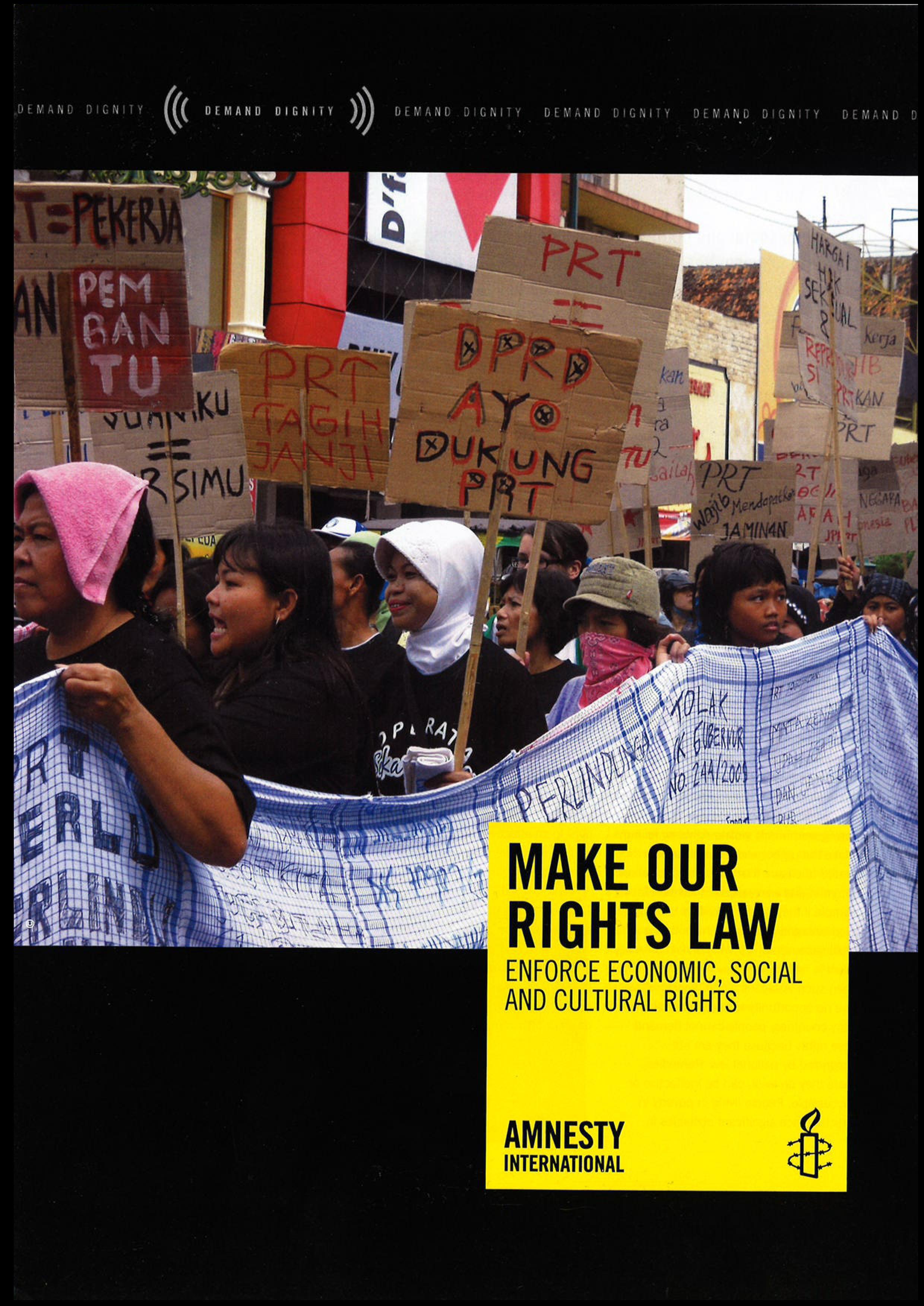 Macht unsere Rechte zum Gesetz: Wirtschaftliche und soziale Rechte