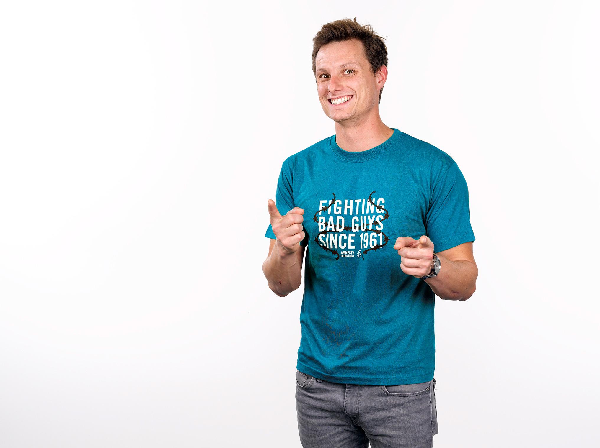 T-Shirt «Fighting Bad Guys» (homme/unisex)