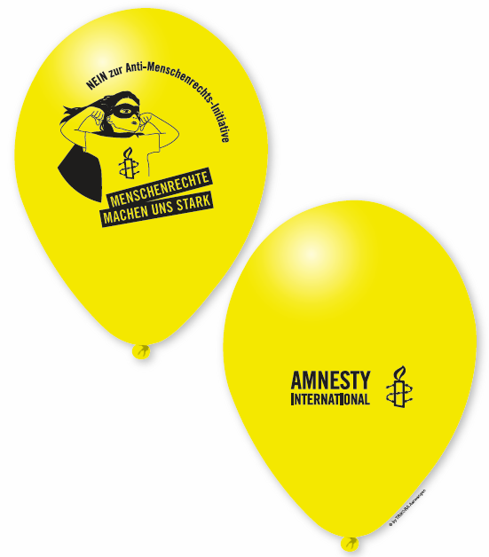 Ballons «Menschenrechte machen uns stark»