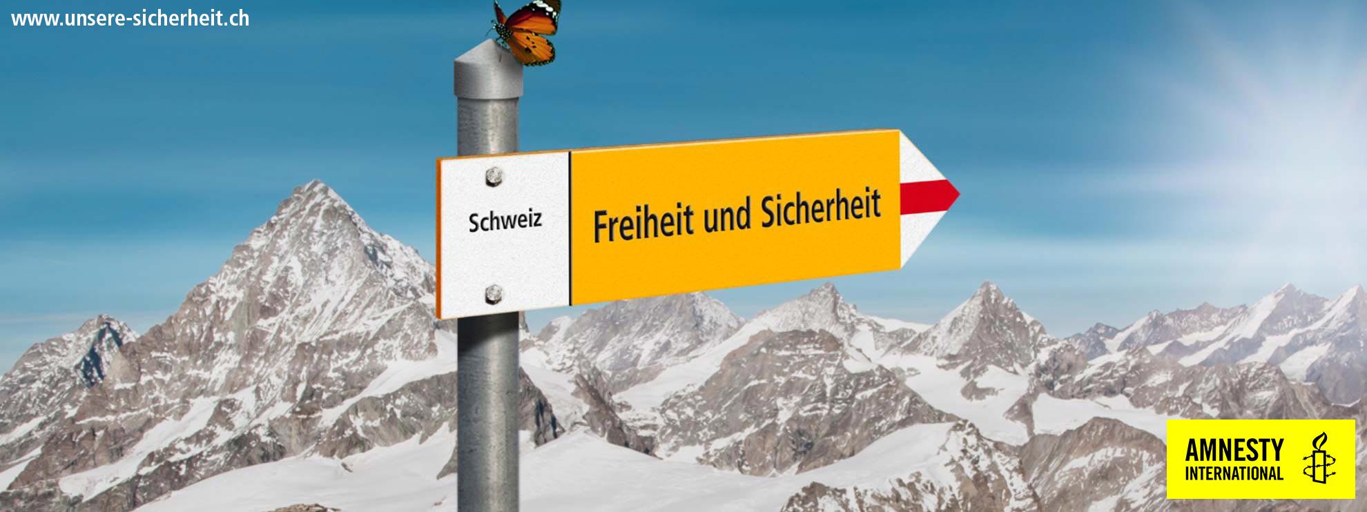 Banner «Freiheit und Sicherheit»