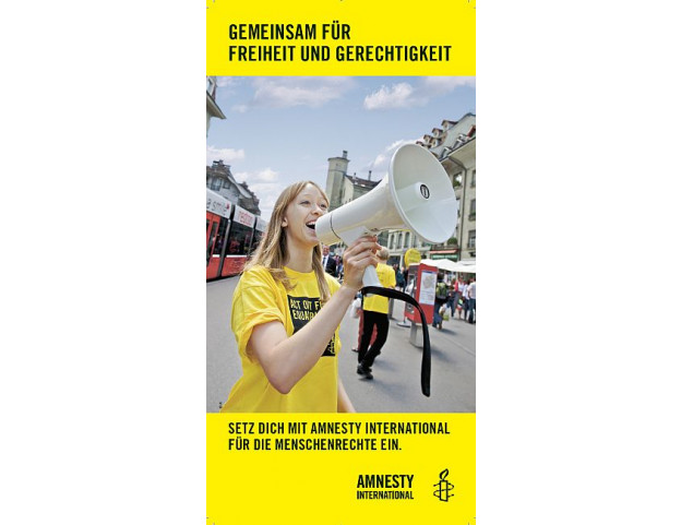 Flyer «Gemeinsam für Freiheit und Gerechtigkeit»