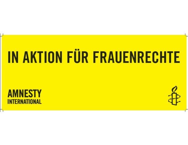 Banner In Aktion für Frauenrechte