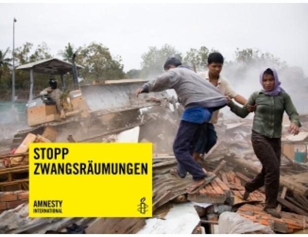 "Banner ""Stopp Zwangsräumungen"" zur Ausleihe"
