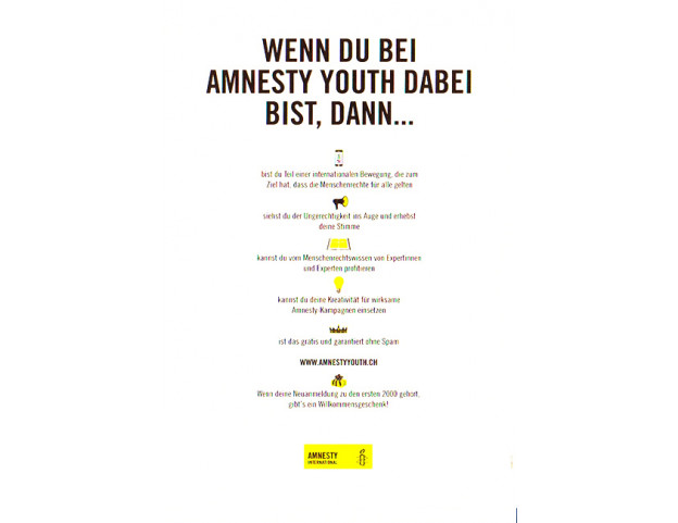 "Flyer ""Amnesty youth"" Deutsch"