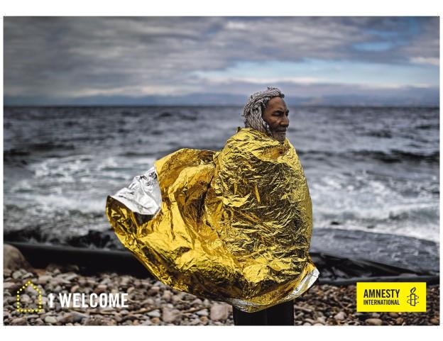 """Plakat A2 """"I WELCOME"""", zur Ausleihe"""