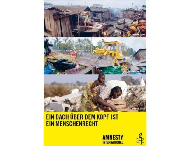 """Poster """"Ein Dach über dem Kopf ist ein Menschenrecht"""""""