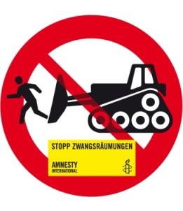 """Sticker """"Stopp Zwangsräumungen"""""""