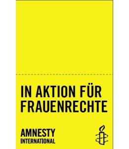 """Tischtuch-Banner """"In Aktion für Frauenrechte"""""""