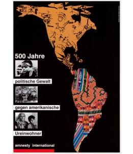 Vintage Poster: 500 Jahre politische Gewalt gegen amerikanische Ureinwohner