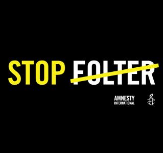 """Banner """"STOP FOLTER"""", zur Ausleihe"""