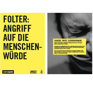 Ausstellung zum Thema Folter, zur Ausleihe