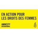 Bannière En action pour les droits des femmes