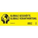 Banner «Globale Geschäfte. Globale Verantwortung»