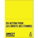 """Bannière-nappe """"En action pour les droits des femmes"""""""
