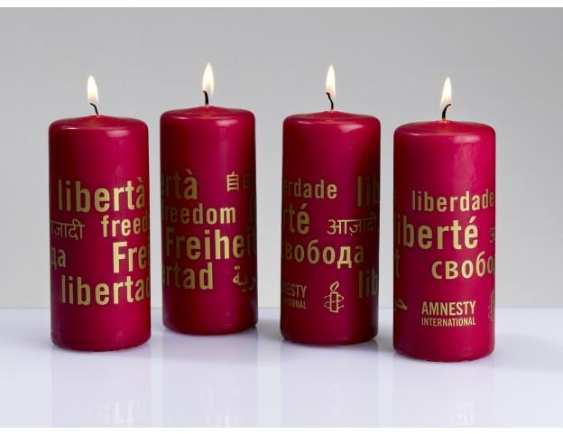 Bougies de l'Avent avec écriture dorée