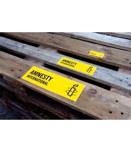 Aufkleber mit Logo Amnesty Inernational