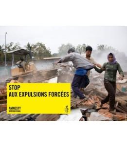 Bannière Stop aux expulsions forcées