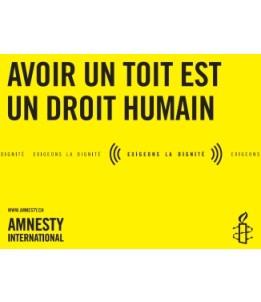 Bannière Avoir un toit est un droit humain