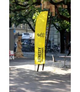 Bannière à arceau avec logo Amnesty, en prêt