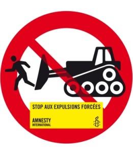 Autocollant Stop aux expulsions forcées