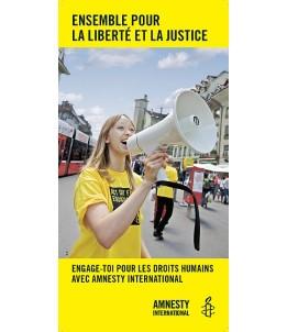 Flyer «Ensemble pour la liberté et la justice»
