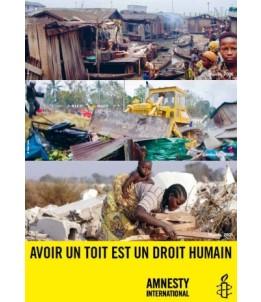 """Poster """"Avoir un toit est un droit humain"""""""