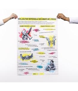 Poster Déclaration universelle des droits de l'homme en 4 langues