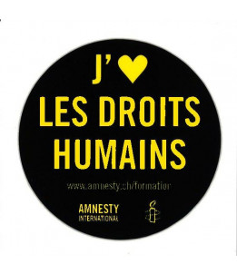 "Autocollant ""I love human rights"" / ""J'aime les droits humains"""