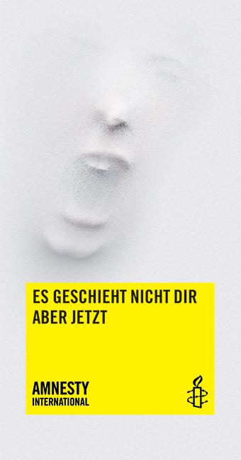 Info-Flyer «Stop Folter: Es geschieht nicht dir aber jetzt»