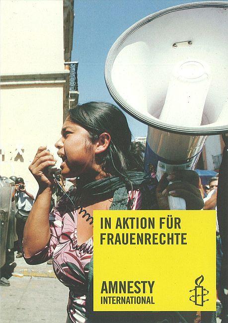 Flyer «In Aktion für Frauenrechte»