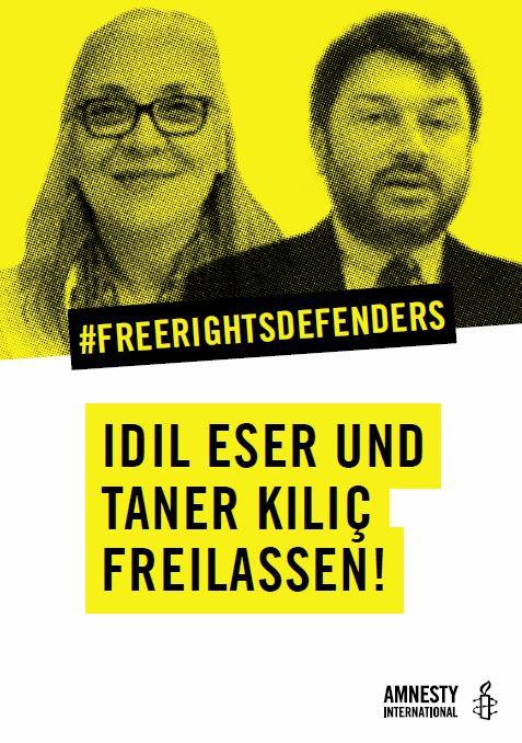 Flyer: Türkei: Freiheit für die Menschenrechtler!