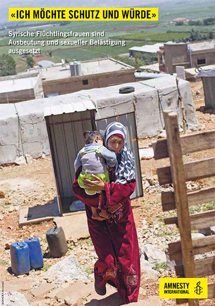 Flyer «Frauen aus Syrien auf der Flucht»