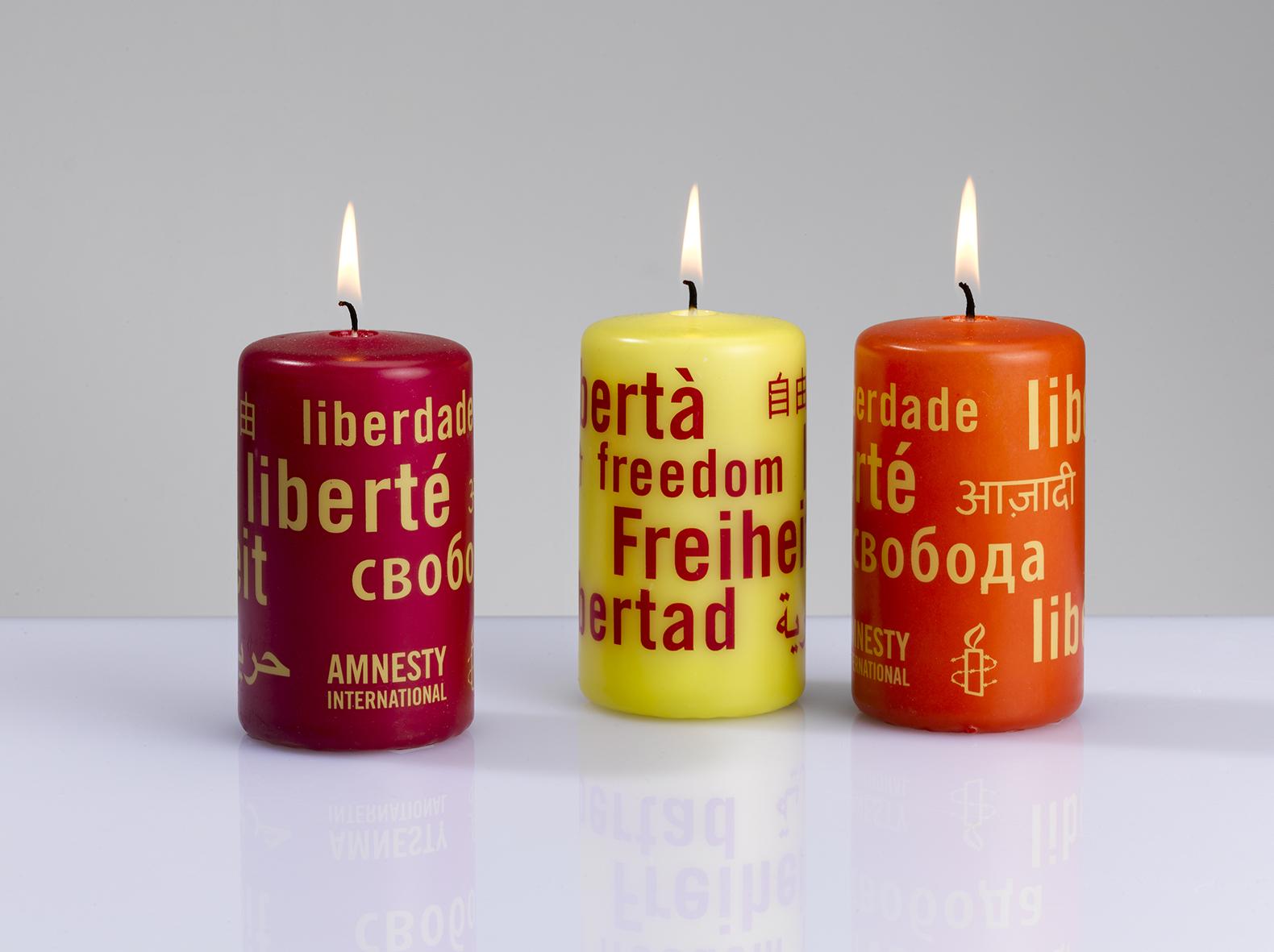 Bougies de couleur, carton de 12 - rouge, jaune, orange - Offre pour les groupes