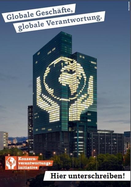 Poster «Globale Geschäfte. Globale Verantwortung»