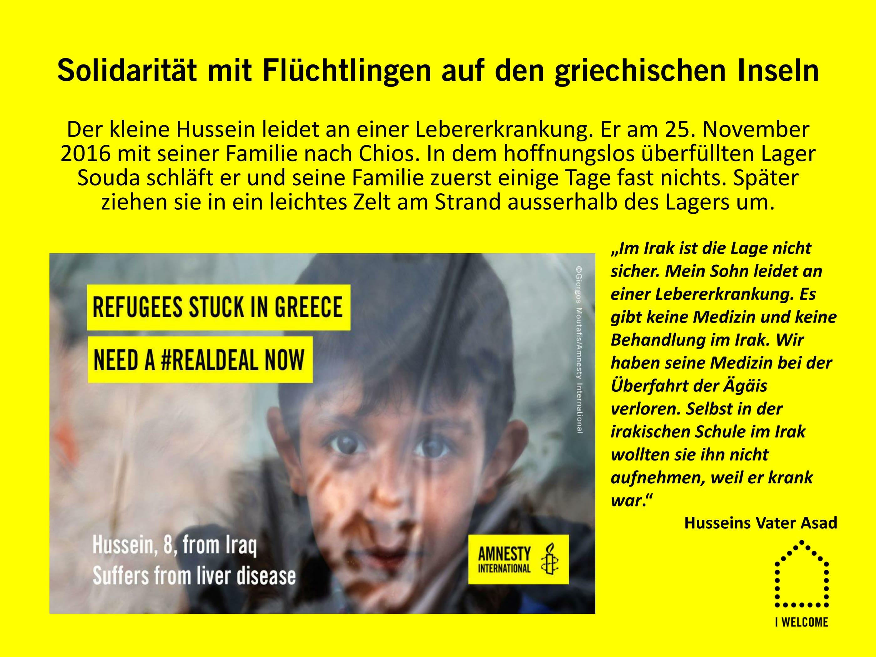 """Plakate A3 """"Einzelschicksale aus Griechenland"""", zur Ausleihe"""