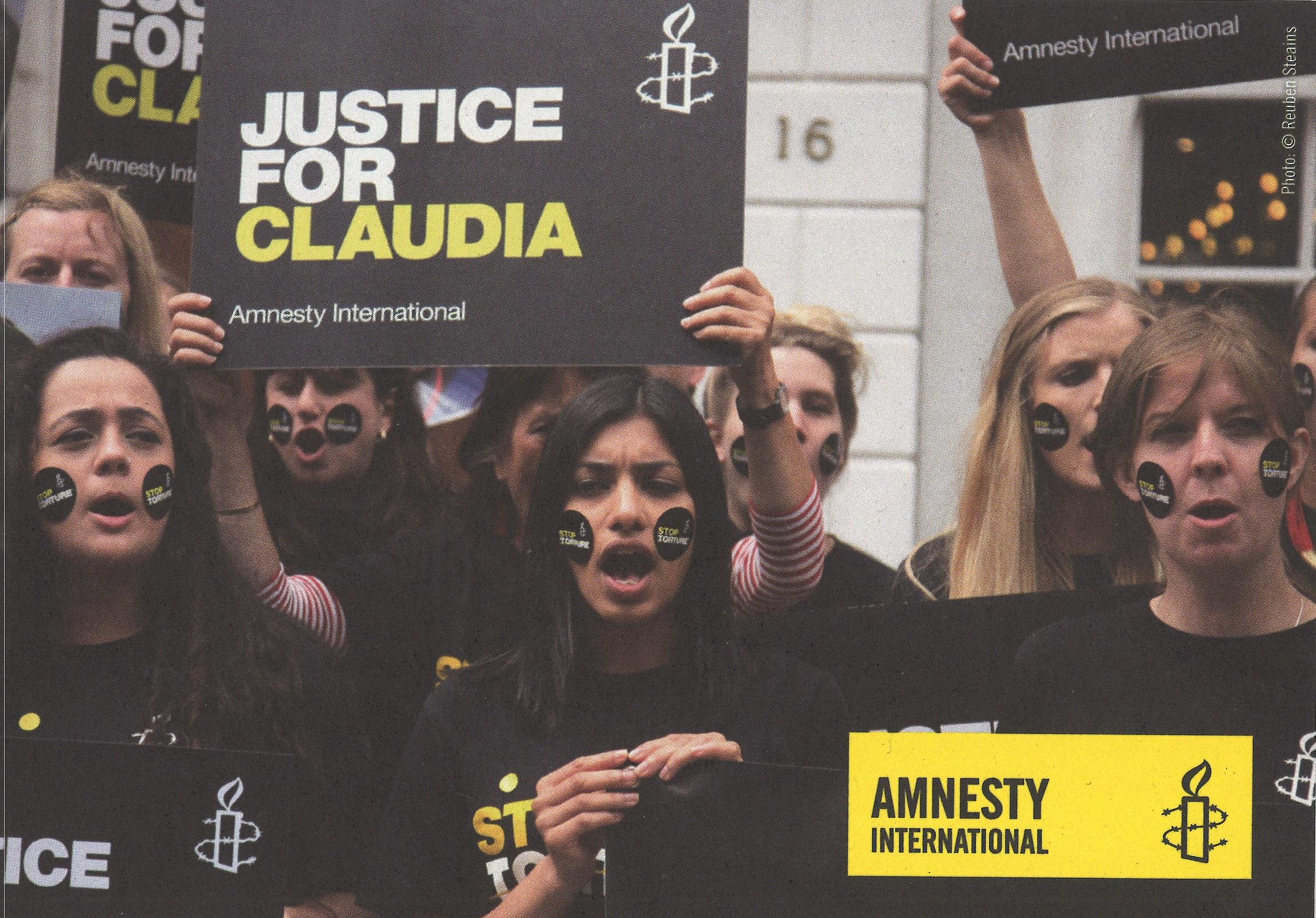 Vier Postkarten «Stop Folter»