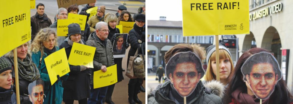 2 Postkarten «Raif Badawi»