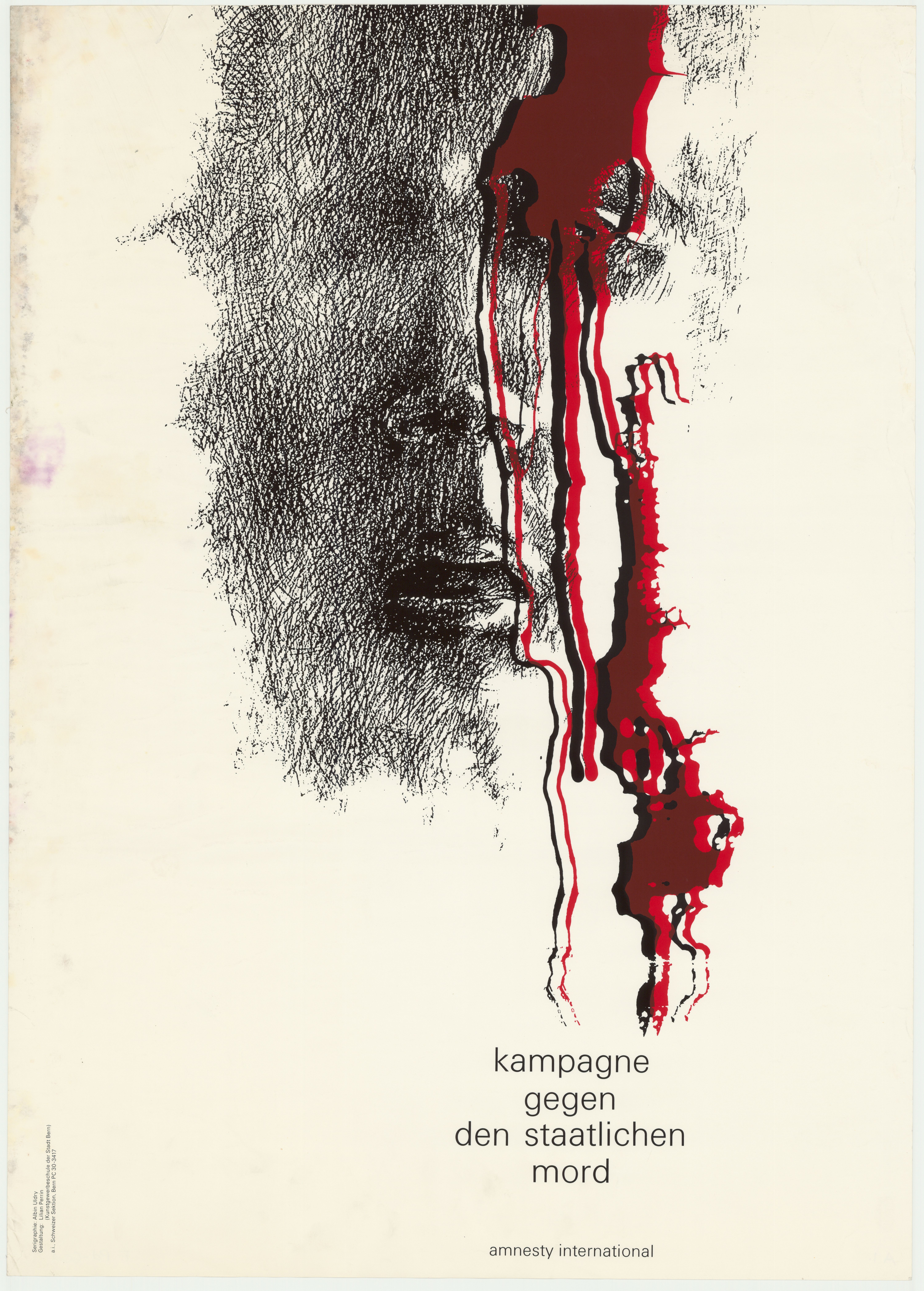 Vintage Poster: Kampagne gegen den staatlichen Mord
