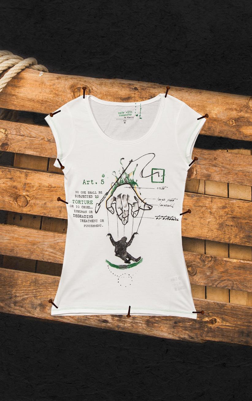 T-Shirt Folter Damen