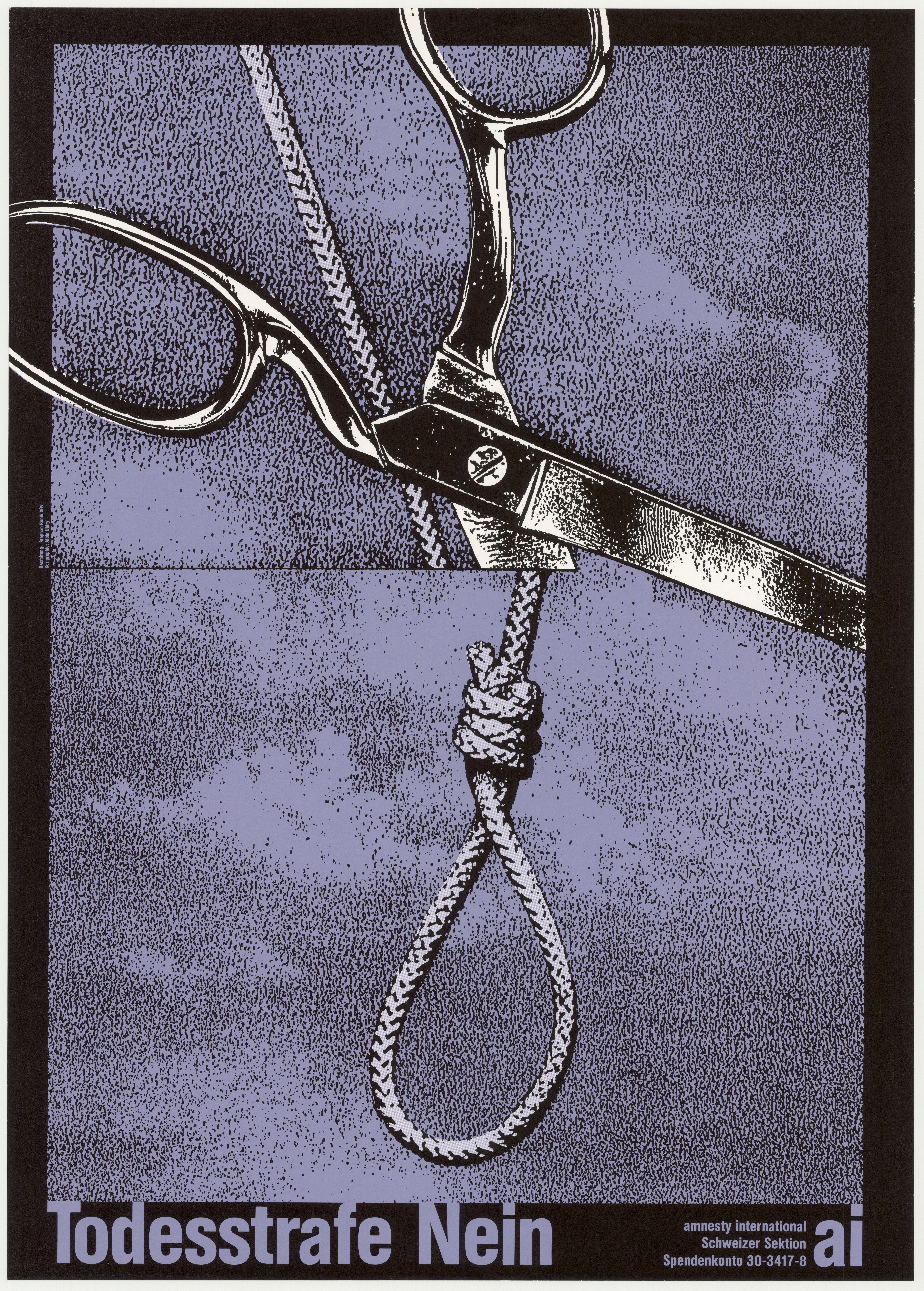 Vintage Poster: Todesstrafe Nein